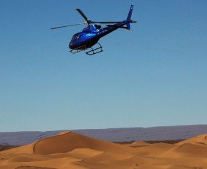 Helikopter til Erg Chigaga Luxury camp