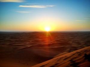Kasbah & Desert sunrise