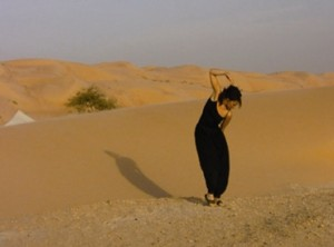 Yoga in Morocco desert camp