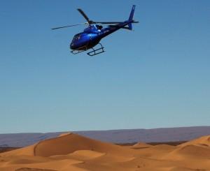Helikopter til Erg Chigaga Luxury camp